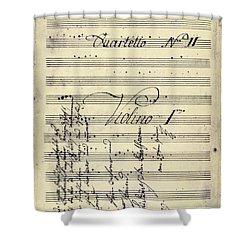 Beethoven Manuscript, 1799 Shower Curtain by Granger