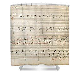 Beethoven Manuscript, 1806 Shower Curtain by Granger
