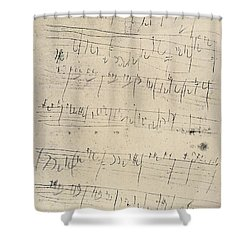 Beethoven Manuscript, 1826 Shower Curtain by Granger