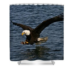 Shower Curtain featuring the photograph Before The Strike by Doug Lloyd