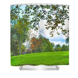 Shower Curtain featuring the photograph Beginning Of Fall by Michael Frank Jr