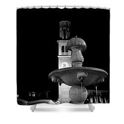 Behind The Strange Fountain Shower Curtain