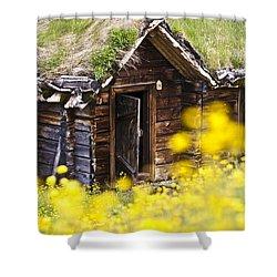 Behind Yellow Flowers Shower Curtain by Heiko Koehrer-Wagner