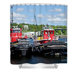Belfast Tugboats Shower Curtain by Susan Cole Kelly