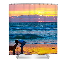 Shower Curtain featuring the photograph Bella At Sunrise by Alice Gipson