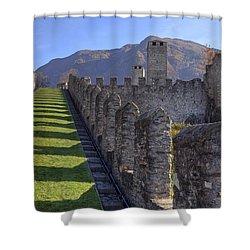 Bellinzona - Castelgrande Shower Curtain by Joana Kruse
