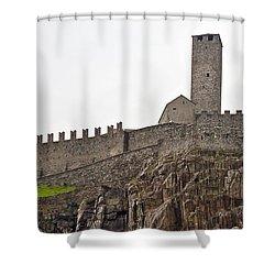Bellinzona - Ticino Shower Curtain by Joana Kruse