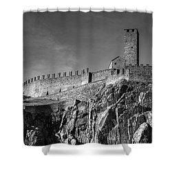 Bellinzona Switzerland Castelgrande Shower Curtain by Joana Kruse