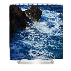 Shower Curtain featuring the photograph Below The Cliffs At Mckenzie by Kerri Ligatich