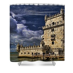 Belum Tower In Lisbon Portugal Shower Curtain by David Smith