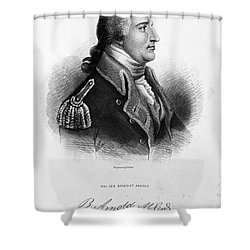 Benedict Arnold, American Traitor Shower Curtain by Omikron