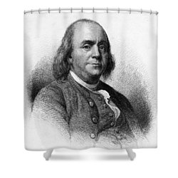 Shower Curtain featuring the photograph Benjamin Franklin by International  Images