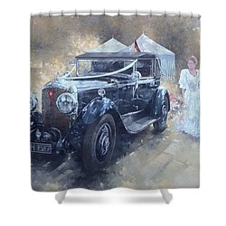 Bentley And Bride  Shower Curtain by Peter Miller