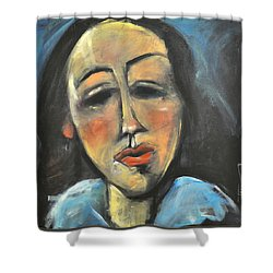 Berthe Lipchitz Revisited Shower Curtain by Tim Nyberg