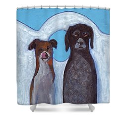 Friends On Vacation Shower Curtain