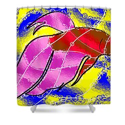 Betta Shower Curtain by Stephen Younts