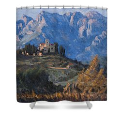 Between Earth And Sky Shower Curtain by Marco Busoni