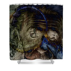 Between The Lens  Shower Curtain by Empty Wall