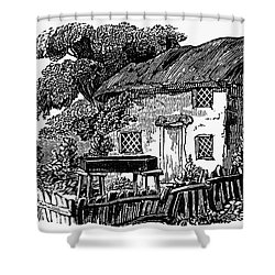 Bewick: Rural House Shower Curtain by Granger