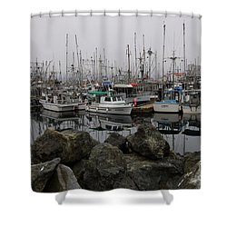 Beyond The Stones Shower Curtain by Bob Christopher
