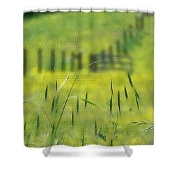 Shower Curtain featuring the photograph Beyond The Weeds by EricaMaxine  Price