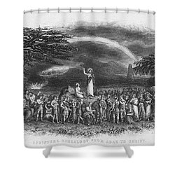Bible: Jesus, 1833 Shower Curtain by Granger