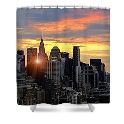 Big Apple Brilliance Shower Curtain by Janet Fikar