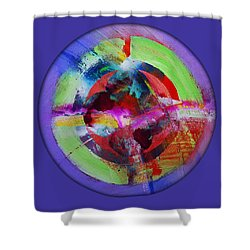Big Bang Blue Shower Curtain by Charles Stuart