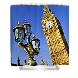 Big Ben And Palace Of Westminster Shower Curtain by Elena Elisseeva