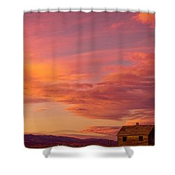 Big Colorful Colorado Sky And Little House On The Prairie Shower Curtain by James BO  Insogna