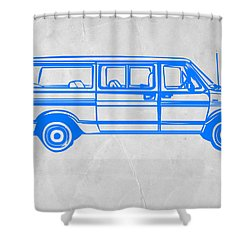 Big Van Shower Curtain by Naxart Studio