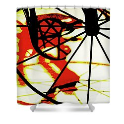 Shower Curtain featuring the photograph Big Wheel by Newel Hunter