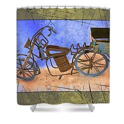 Bike 2a Shower Curtain by Mauro Celotti