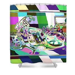 Bike-2b Shower Curtain by Mauro Celotti