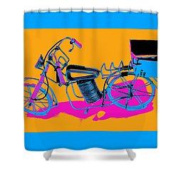 Bike-2c Shower Curtain by Mauro Celotti