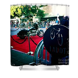 Bike Parking Shower Curtain by Nina Prommer