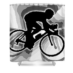 Bike Shower Curtain by Stephen Younts