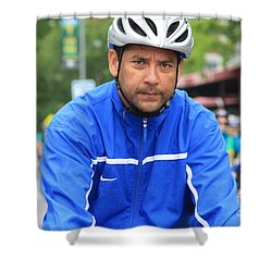 Bike Tour1 Shower Curtain by Terry Wallace