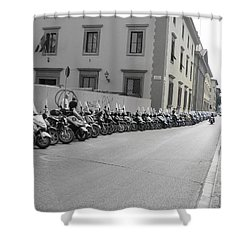 Shower Curtain featuring the photograph Bikes by Laurel Best