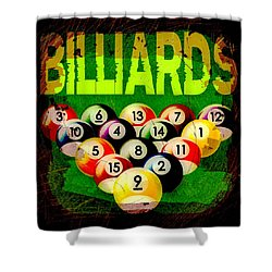 Billiards Abstract Shower Curtain by David G Paul