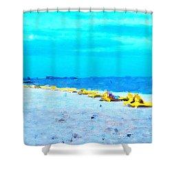 Biloxi Beach Shower Curtain by Scott Crump
