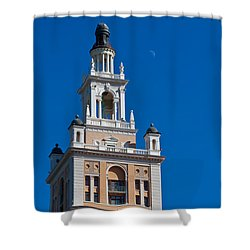 Shower Curtain featuring the photograph Coral Gables Biltmore Hotel Tower by Ed Gleichman