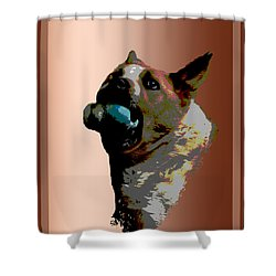 Binky Shower Curtain by One Rude Dawg Orcutt