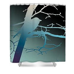 Shower Curtain featuring the photograph Bird At Twilight by Lauren Radke