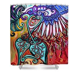 Bird Heart I Shower Curtain by Genevieve Esson