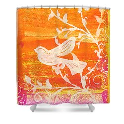 Bird In The Meadow Shower Curtain