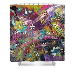 Bird Of A Feather Shower Curtain by Kelly Turner