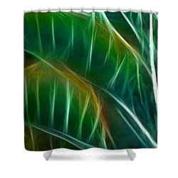 Bird Of Paradise Fractal Panel 3 Shower Curtain by Peter Piatt