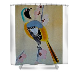 Shower Curtain featuring the photograph Bird Print by Julia Wilcox