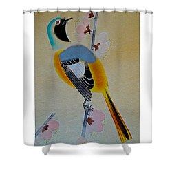 Bird Print Shower Curtain by Julia Wilcox